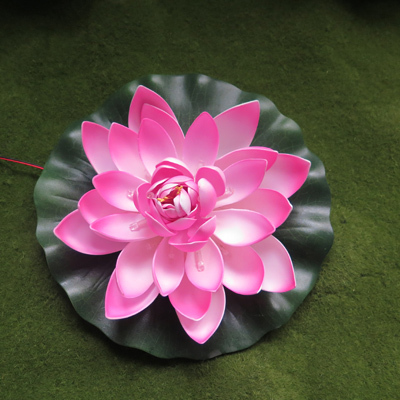 Led Artificial lotus flower for garden decoration