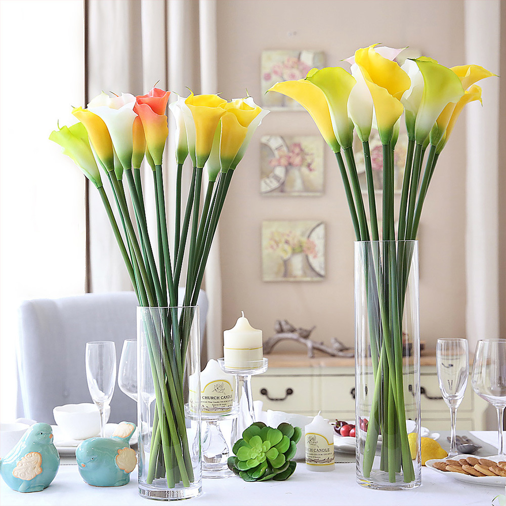 Artificial flowers PU calla for wedding decoration