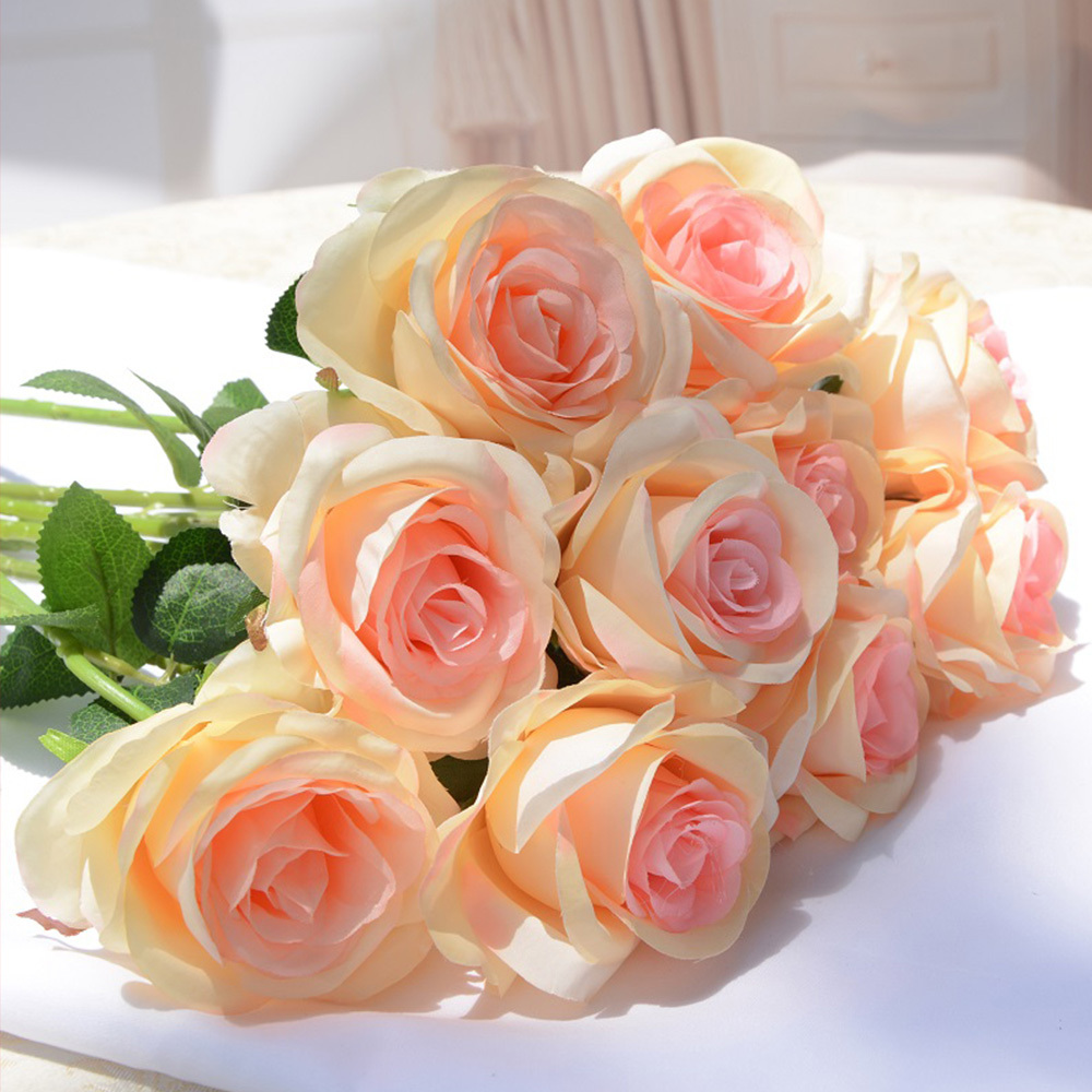 Wedding decoration silk rose flowers artificial flower
