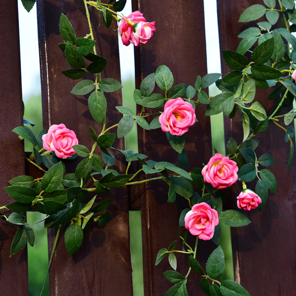 Indoor and outdoor artificial rose flowers ivy vine