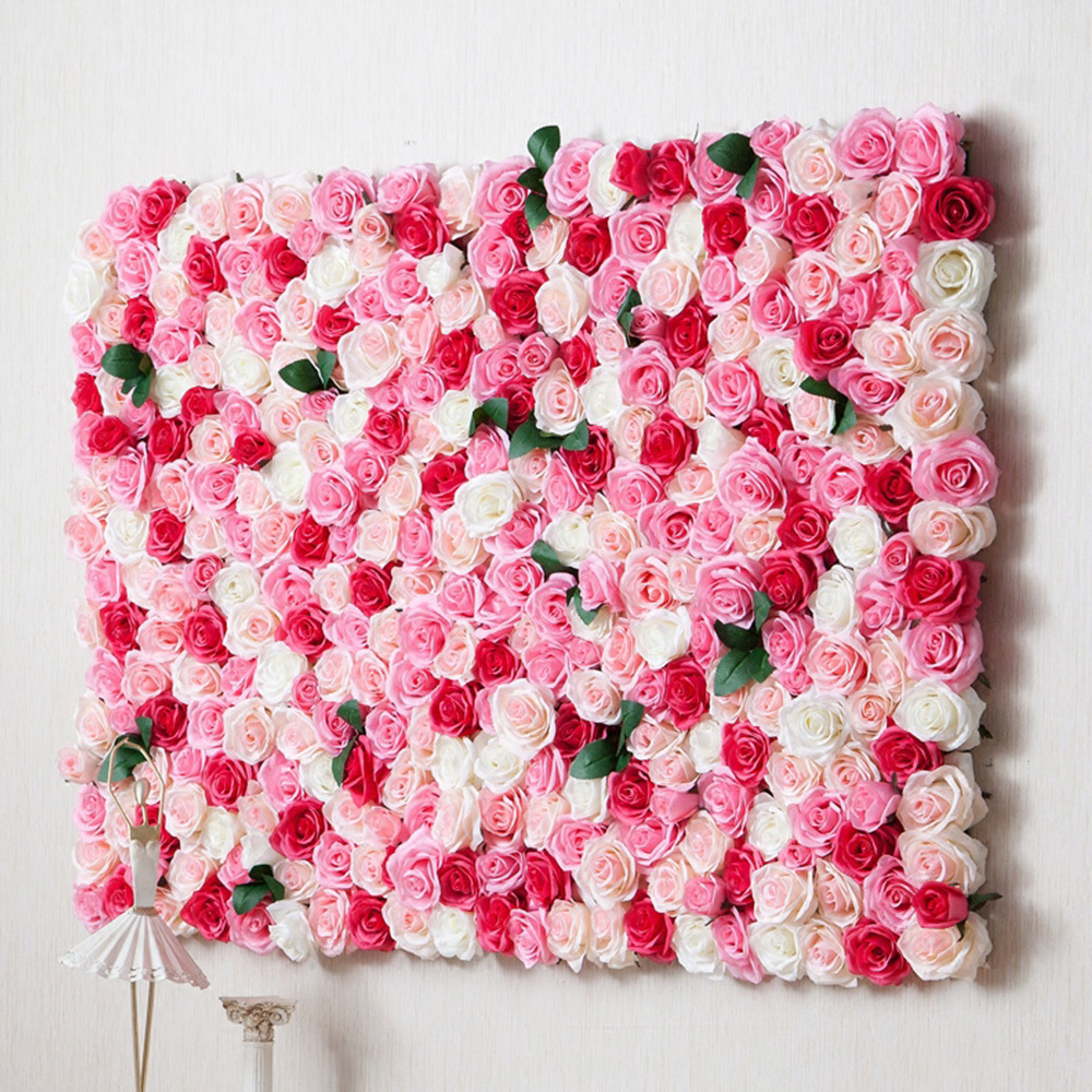 artificial rose flower wall