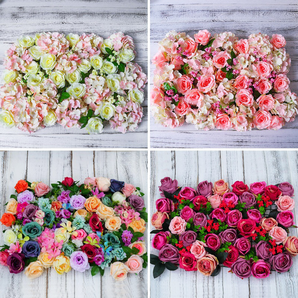 Flower wall backdrop for wedding decorations