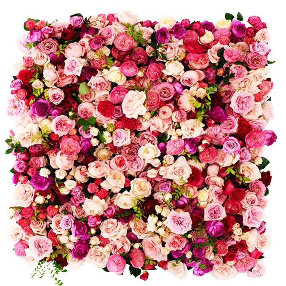 Wall decor Wholesale synthetic artificial flowers wall