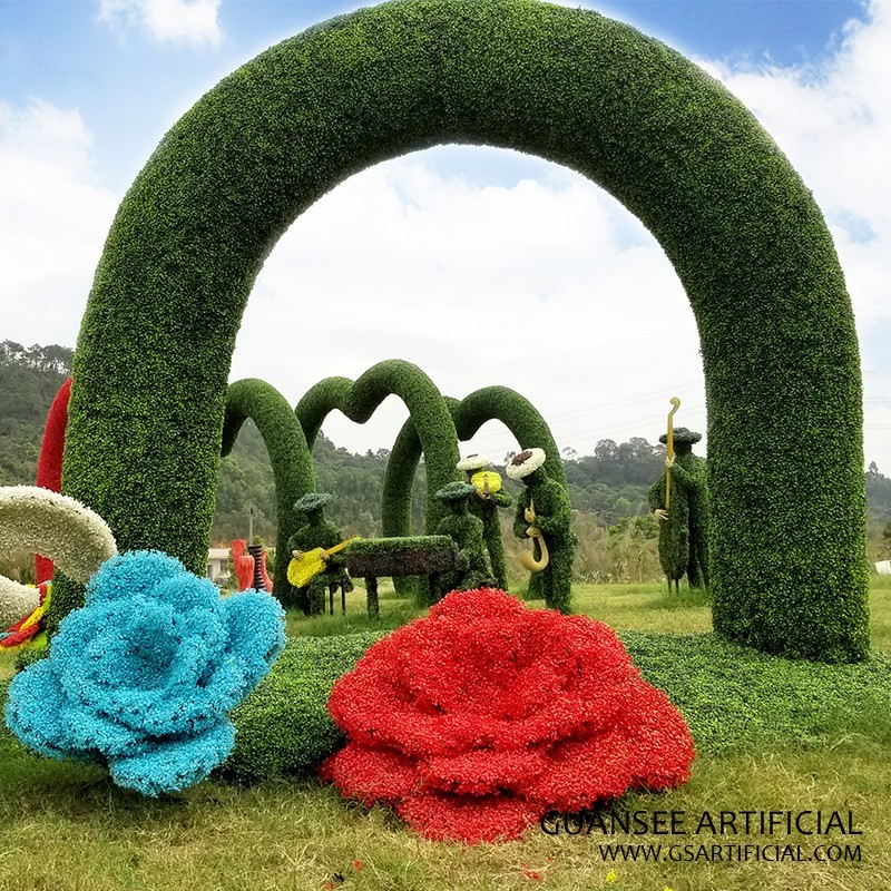 Love Shape Artificial Topiary Heart-Shaped Arches Door Garde