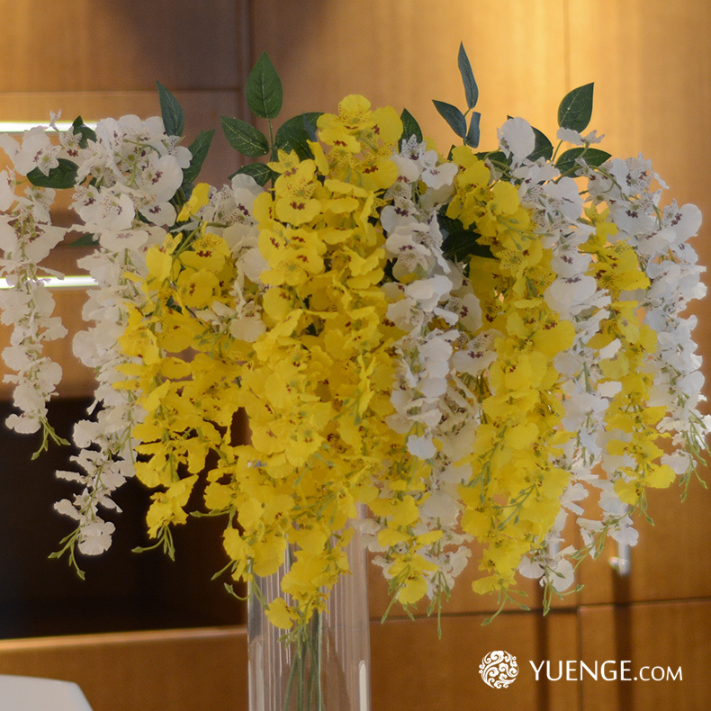 artificial yellow dancing orchid flower