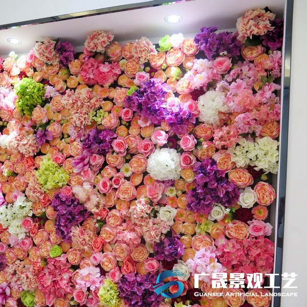 artificial flower wall wedding decoration