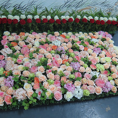 artificial flower wall for wedding and party