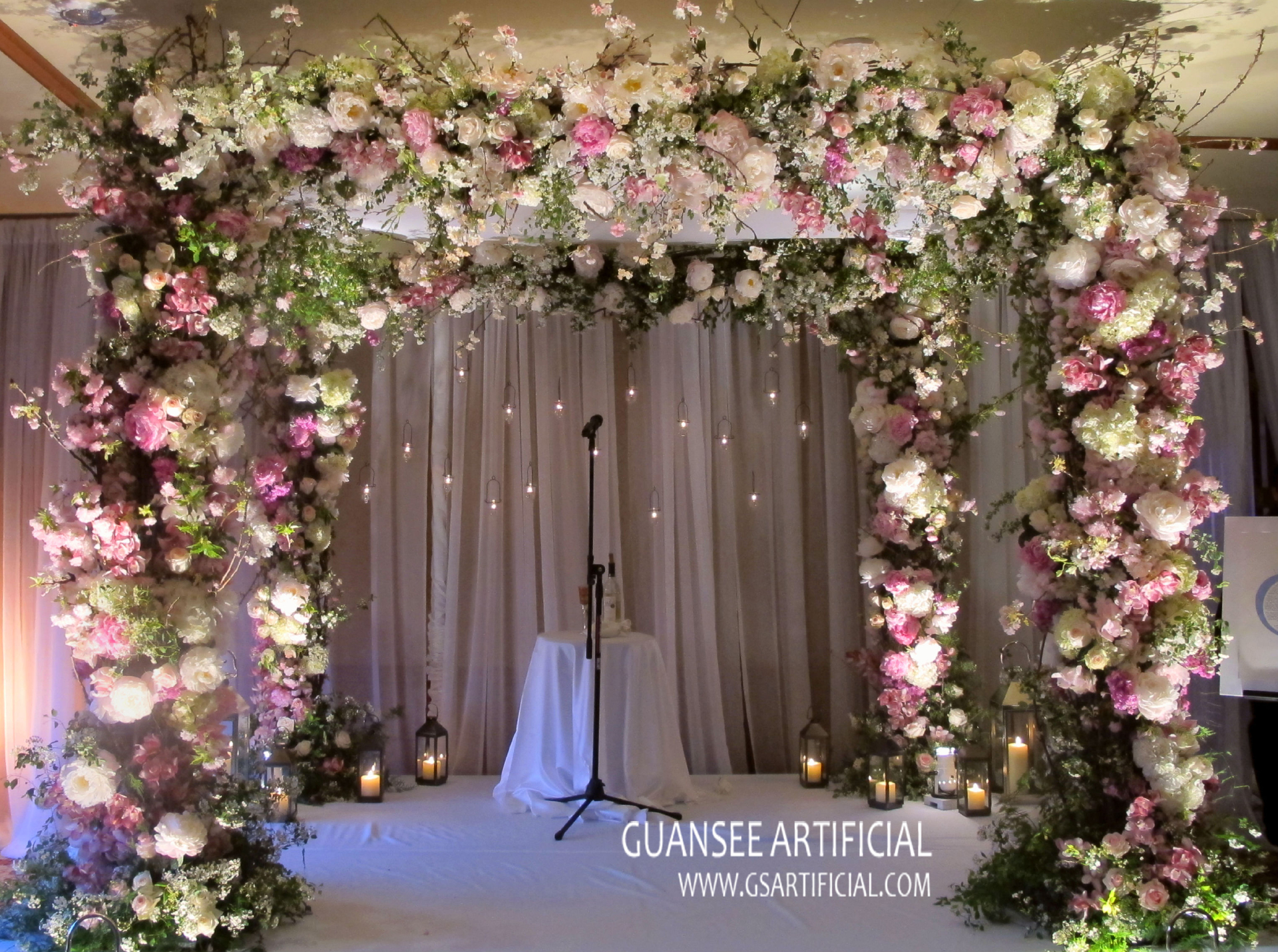 high quality wedding arch flower wall