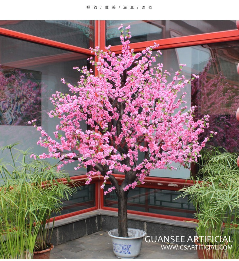 indoor and outdoor decoration of peach tree distinctive tree