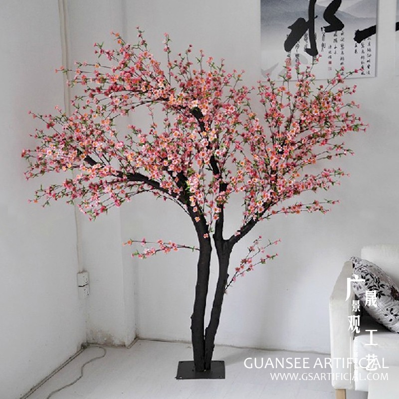 Artificial wedding flower peach blossom tree