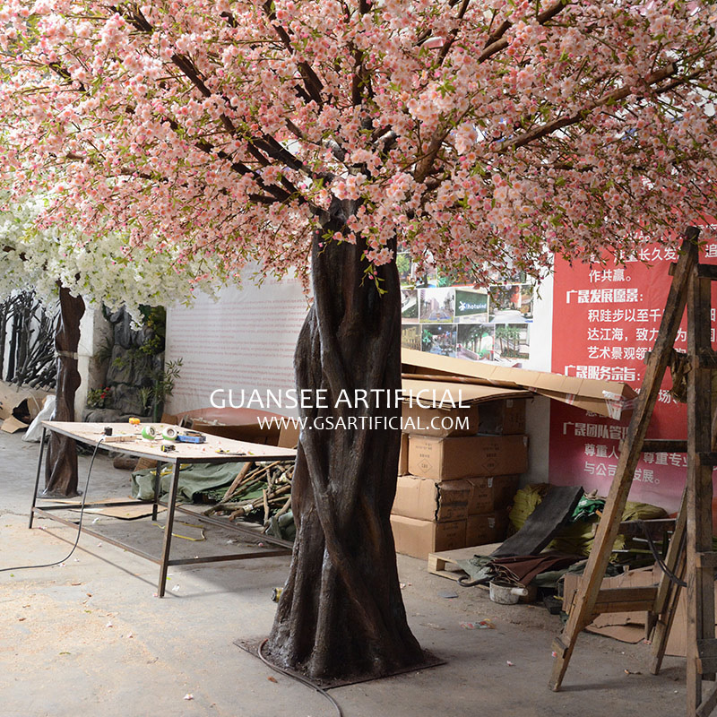 restaurant decoration Artificial Peach blossom Tree