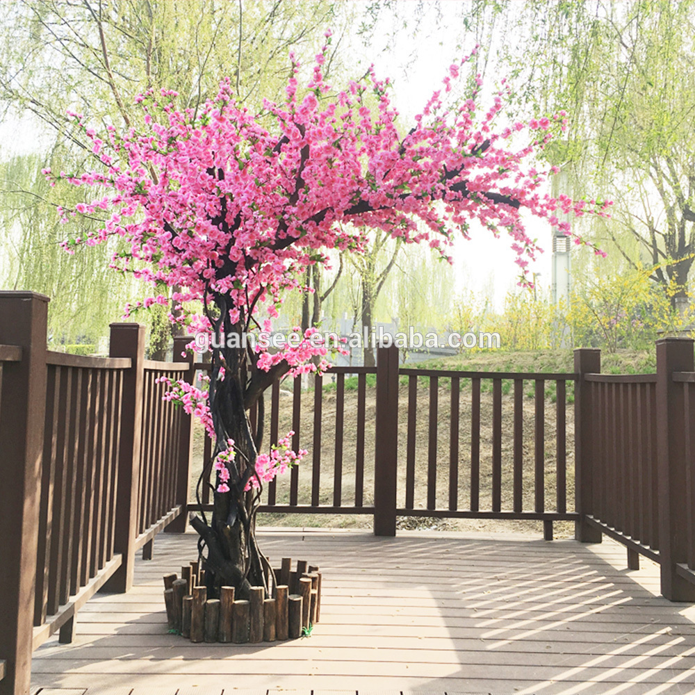 Artificial Peach blossom Tree flower tree wedding decoration