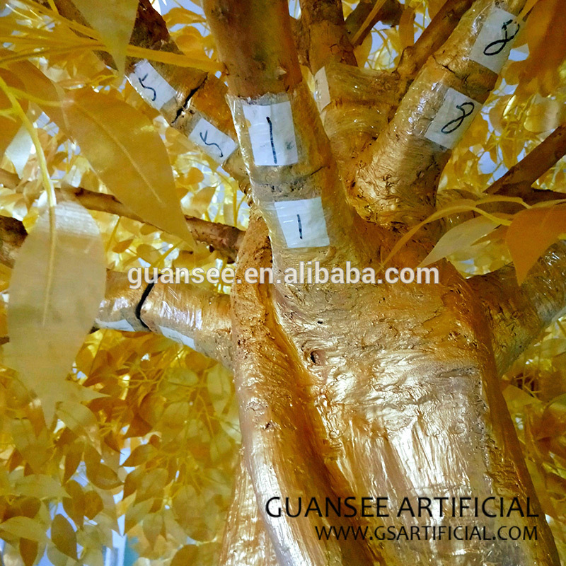 gold artificial banyan tree 3m ficus tree