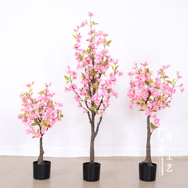 pink artificial cherry blossom bonsai