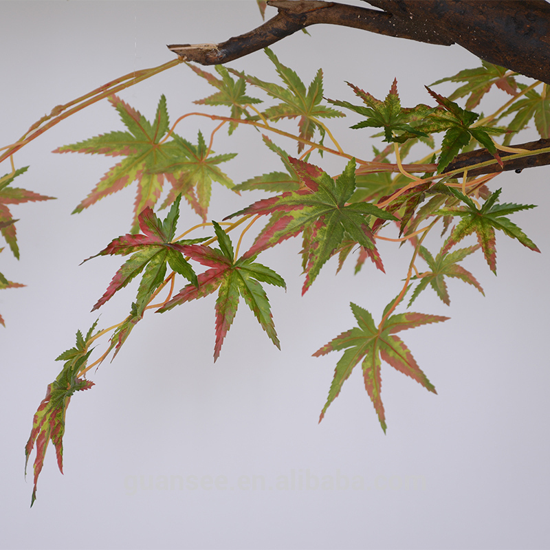 Artificial maple tree green leaves