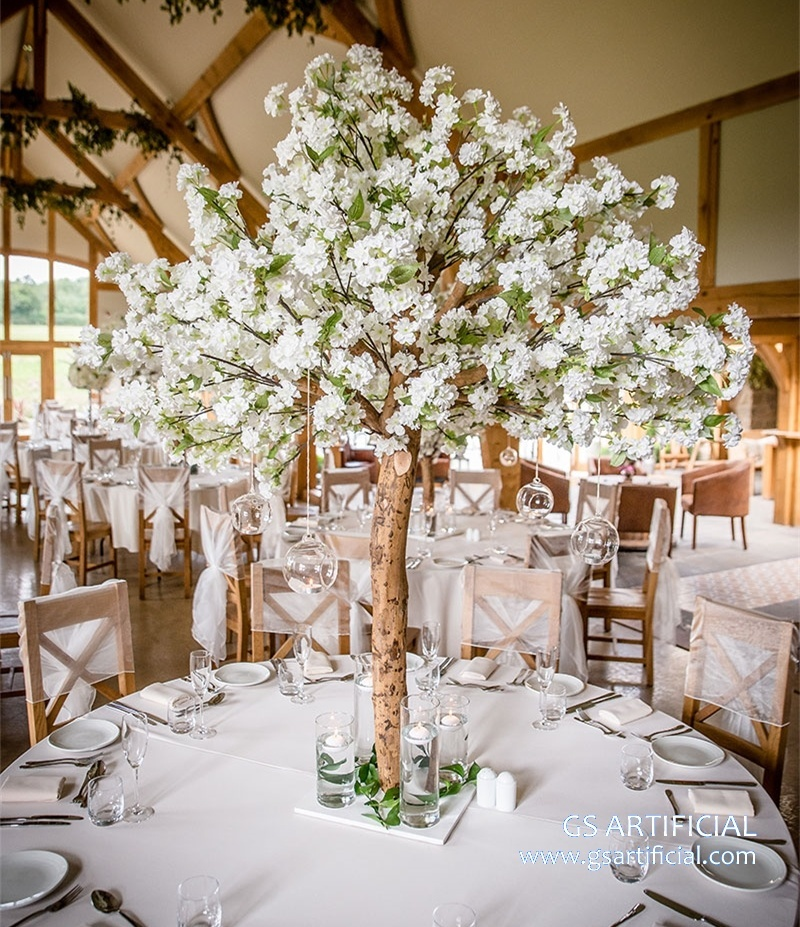 4ft Artificial White cherry blossom tree for wedding table d