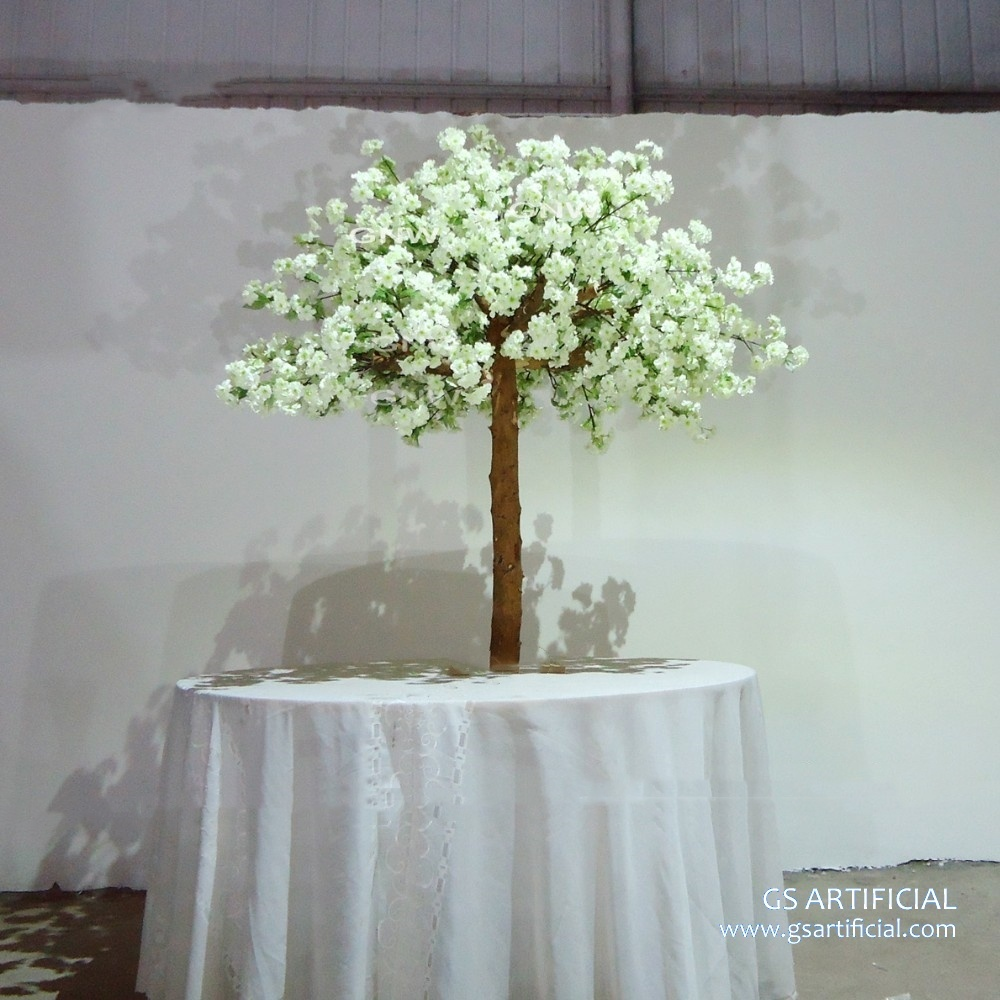 3ft wood trunk Artificial White cherry blossom tree for wedd