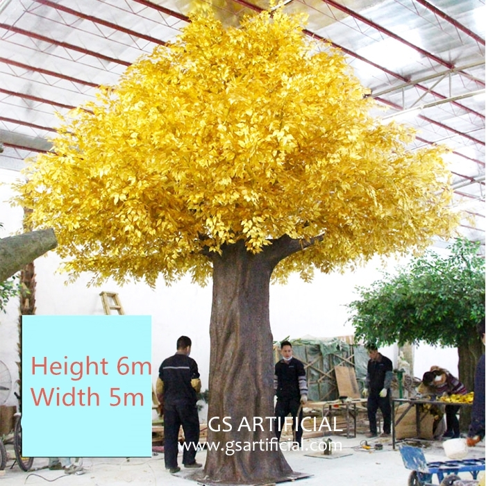 6m Artificial yellow Banyan tree big ficus tree