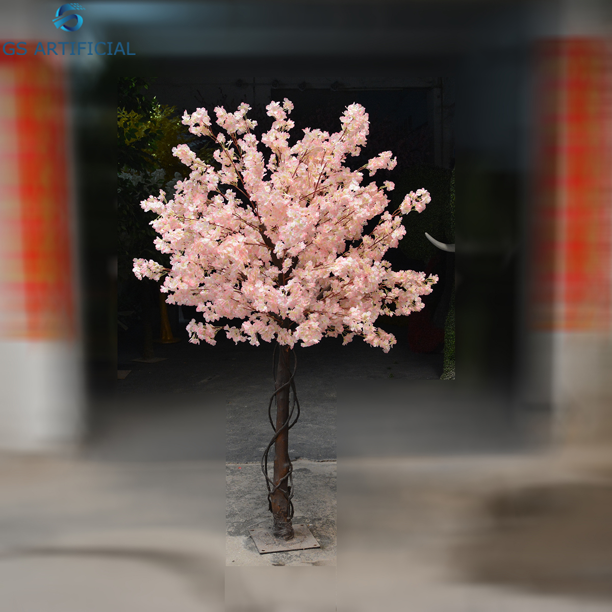 Customized size Japan style artificial cherry blossom tree