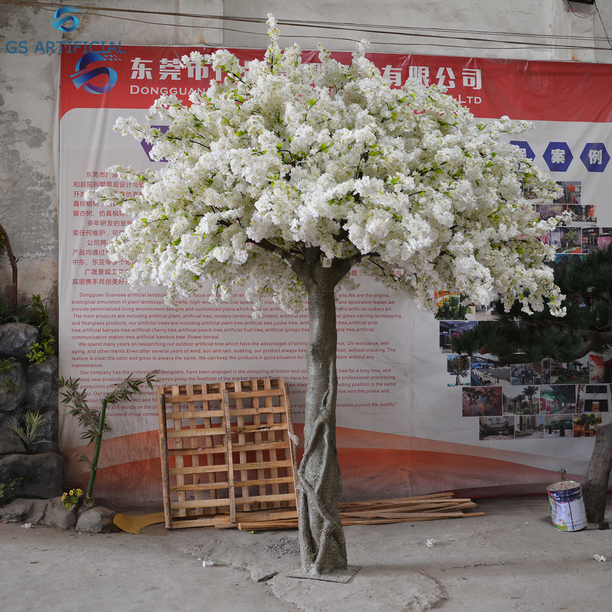 Artificial White Cherry Blossom Flower Tree