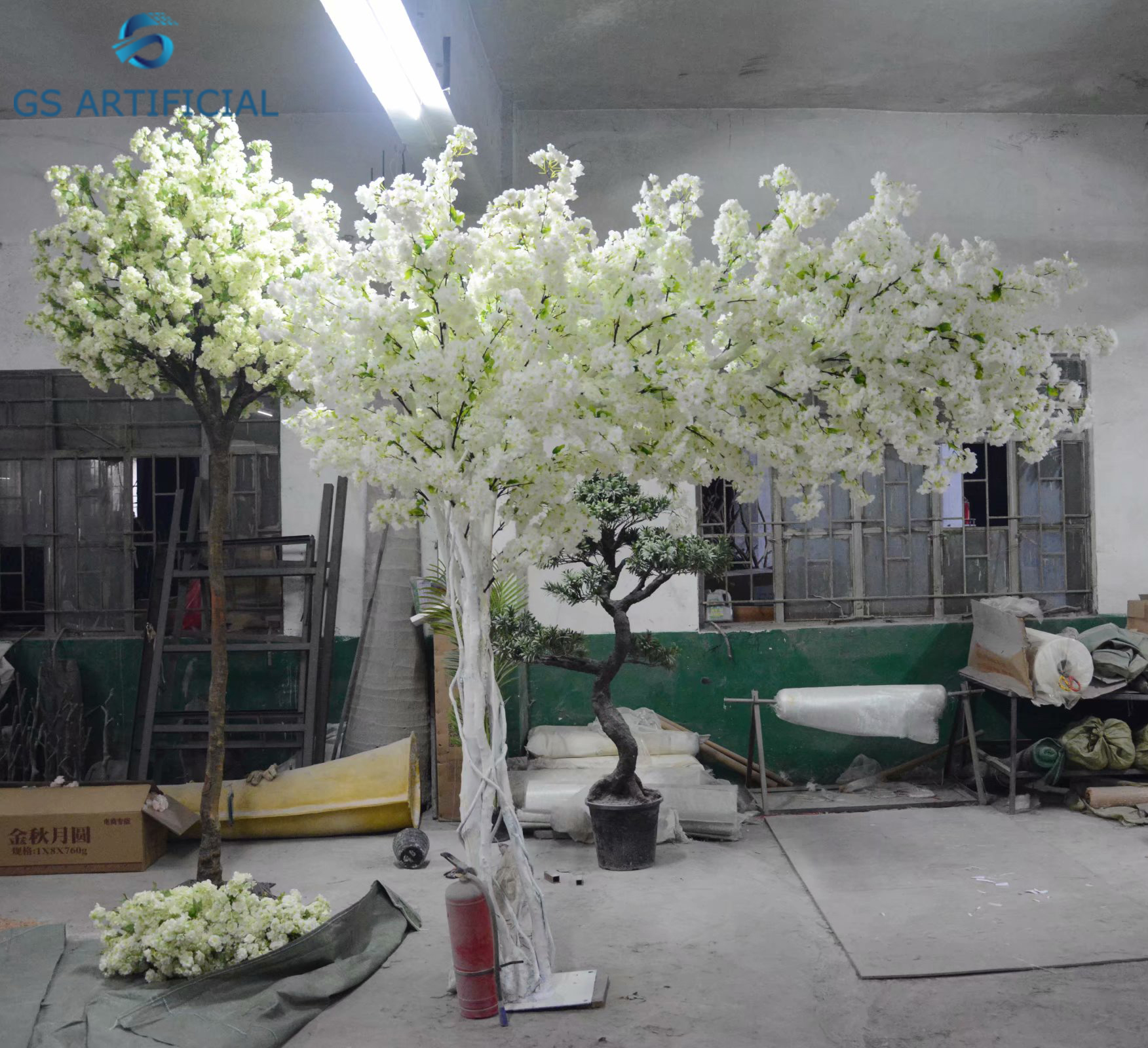 Artificial White Cherry Blossom Trees