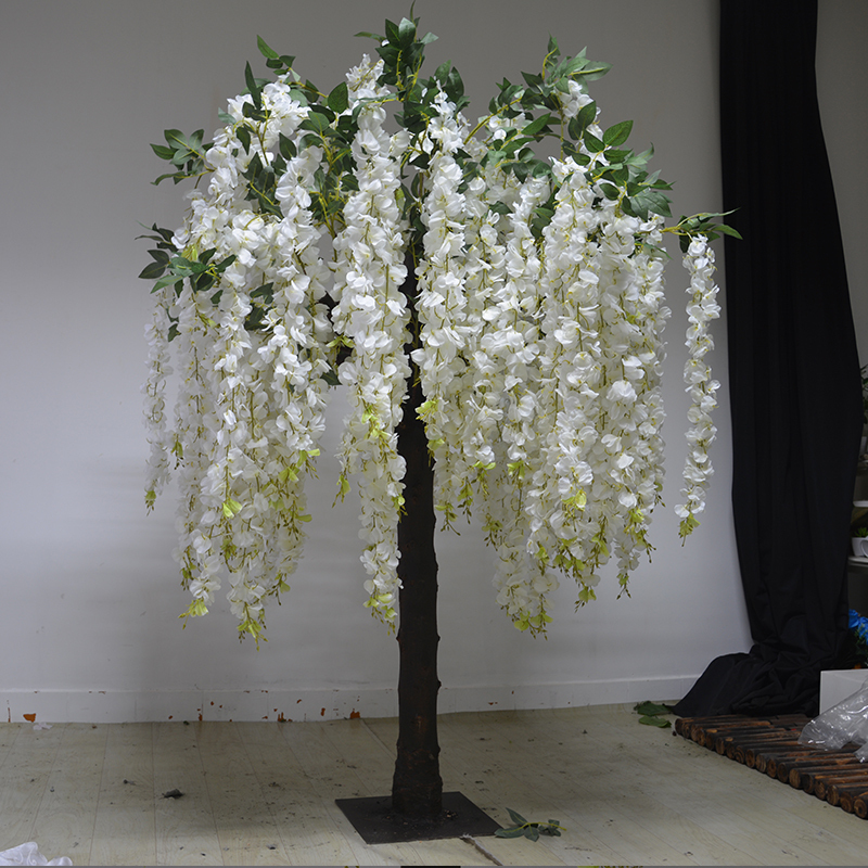 artificial wisteria tree for wedding decoration
