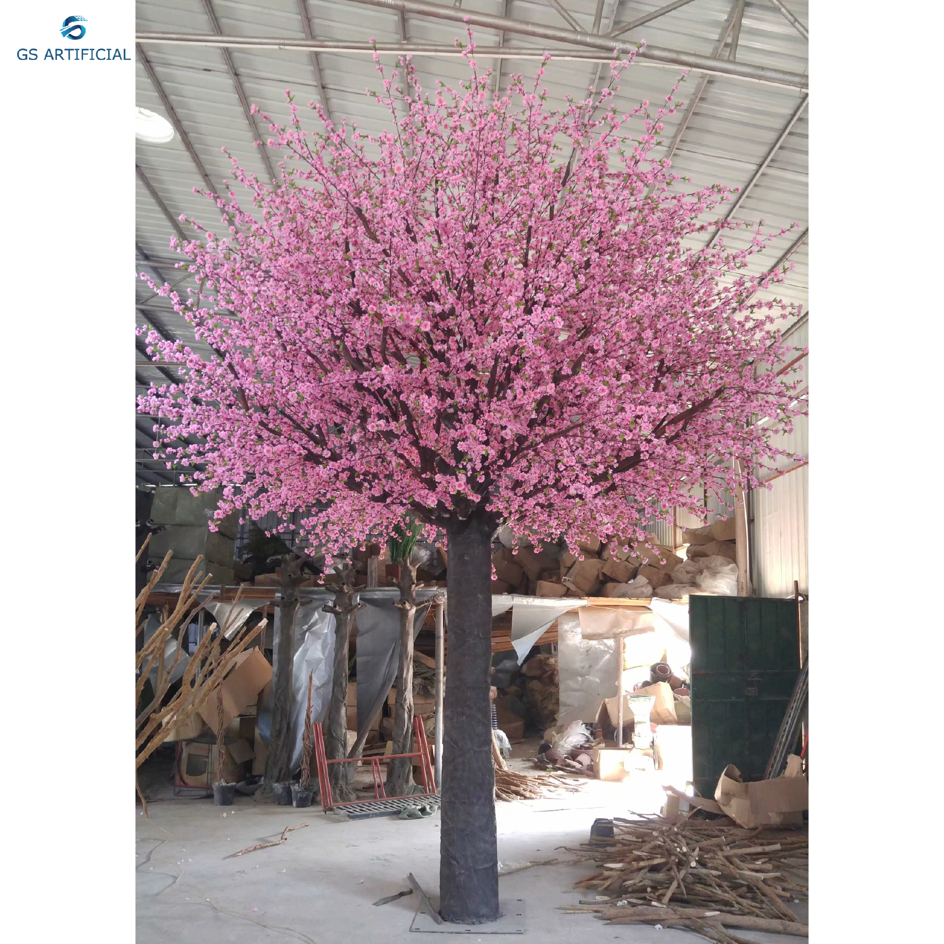 decorative plastic tree large artificial tree Peach  Blossom