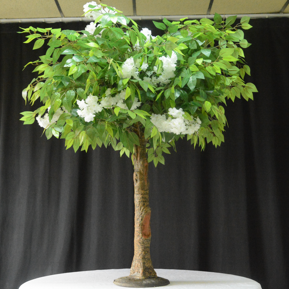 Arttificial ficus centerpieces tree