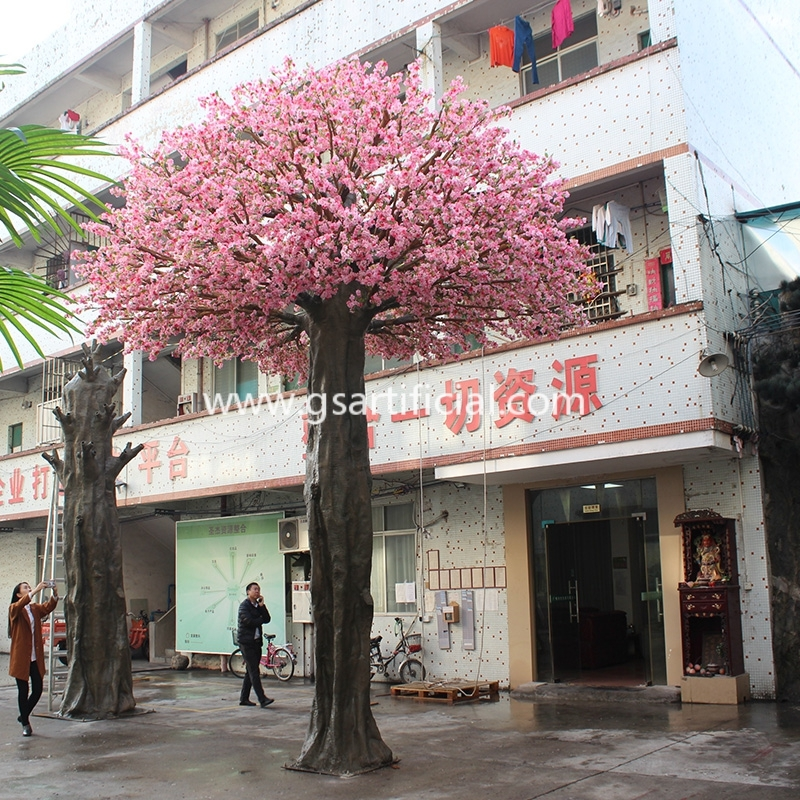 6.5m high fiberglass trunk artificial sakura tree