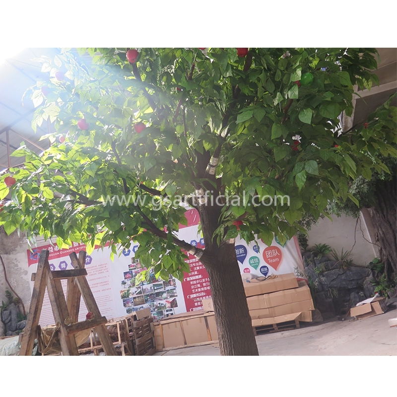 lifelike customized plastic apple tree decorative apple tree