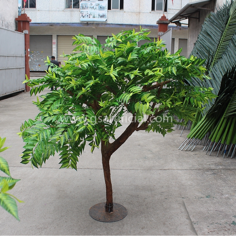 GST617 wooden green artificial tree for  outdoor decoration