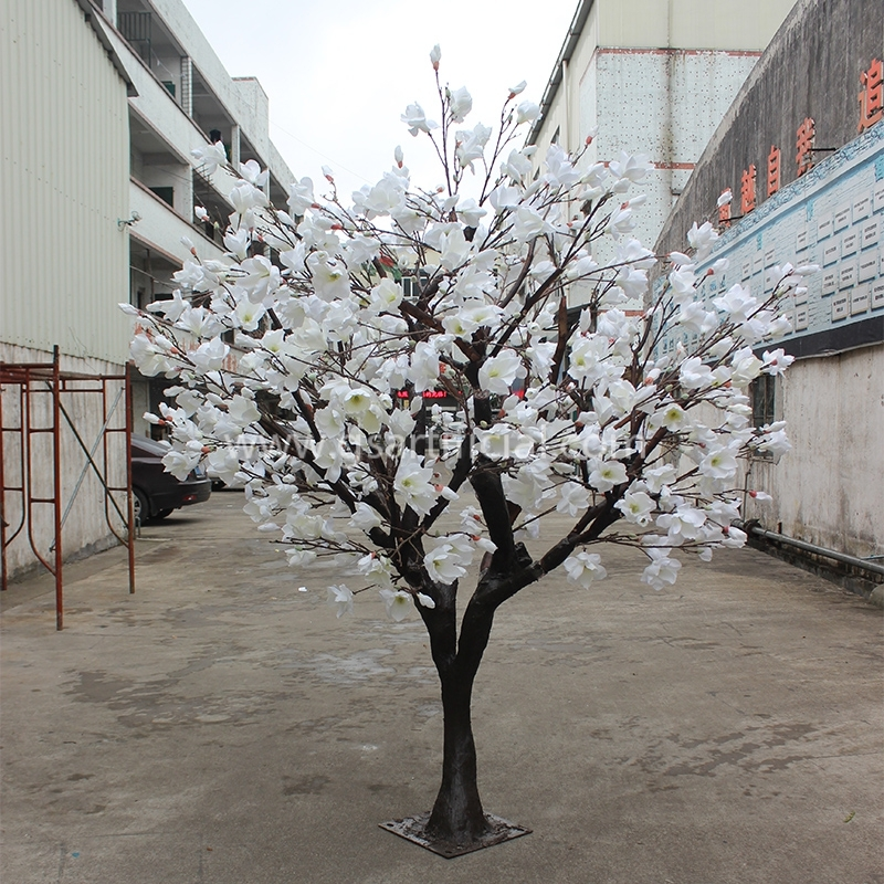 GST620 white  artificial magnolia tree for home decoration