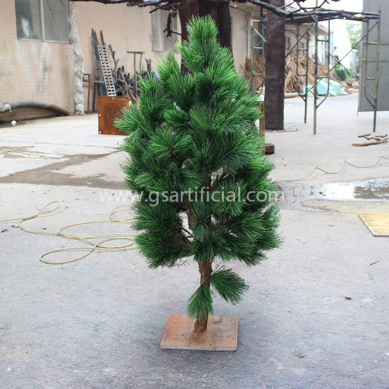 GST209 small artificial potted plants wooden green tree