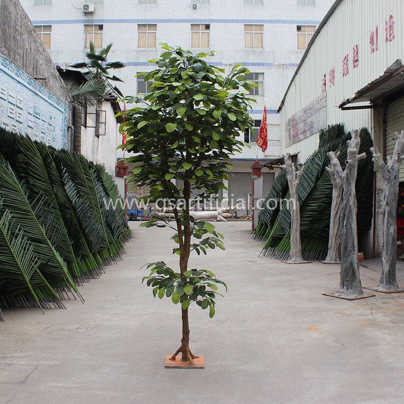 artificial tree wooden green pineapple tree