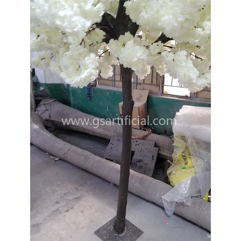 wooden artificial white cherry blossom tree for decor