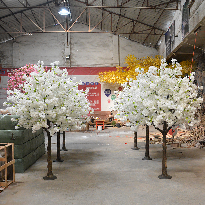 8ft white artificial cherry blossom tree for wedding