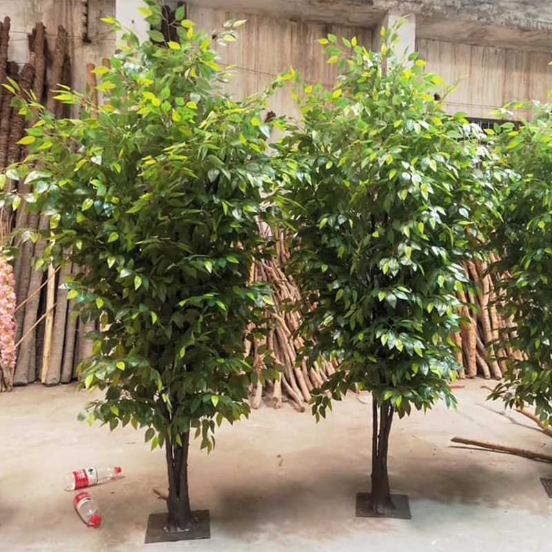 indoor decoration 10ft Artificial Ficus Tree green plant ban