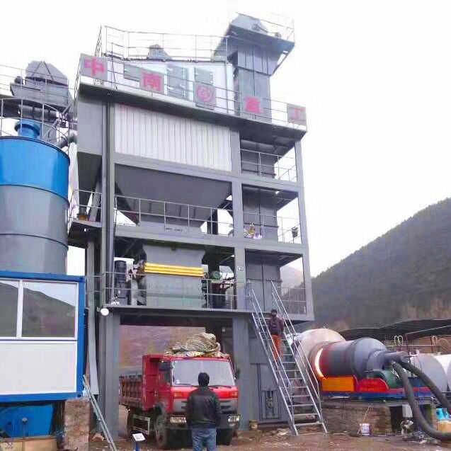 stationary asphalt batch mix plant is installed by sinosouth