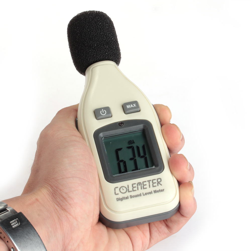 COLEMETER Portable LCD Display Sound Noise Level Meter Teste