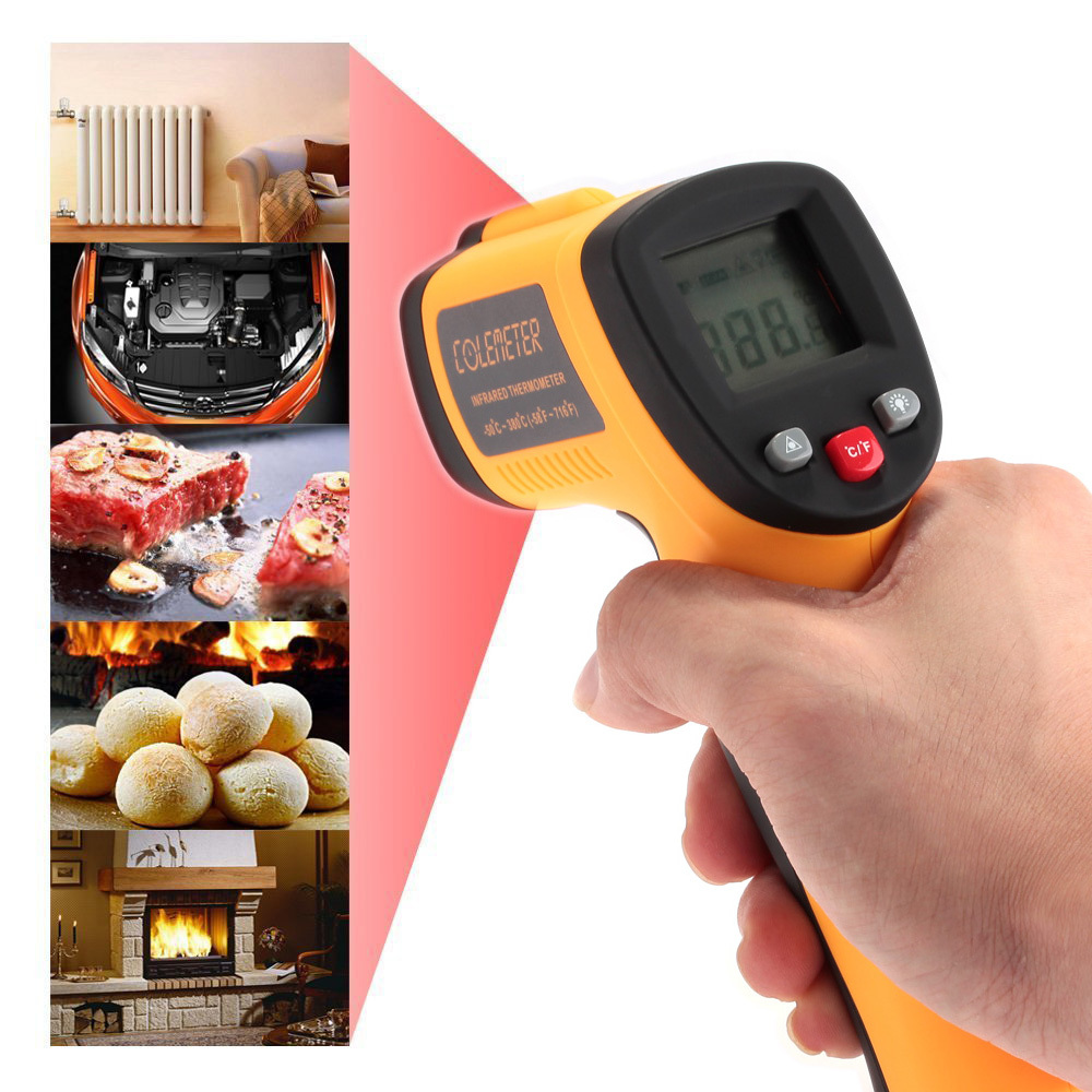 Colemeter Non Contact Infrared Digital Temperature Gun Therm