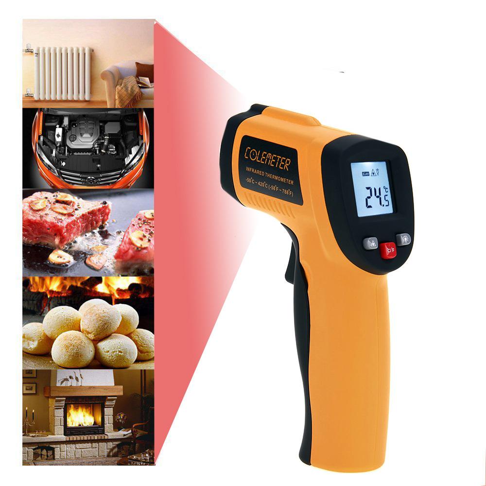 COLEMETER Read Temperature Gun IR Digital Infrared Thermomet