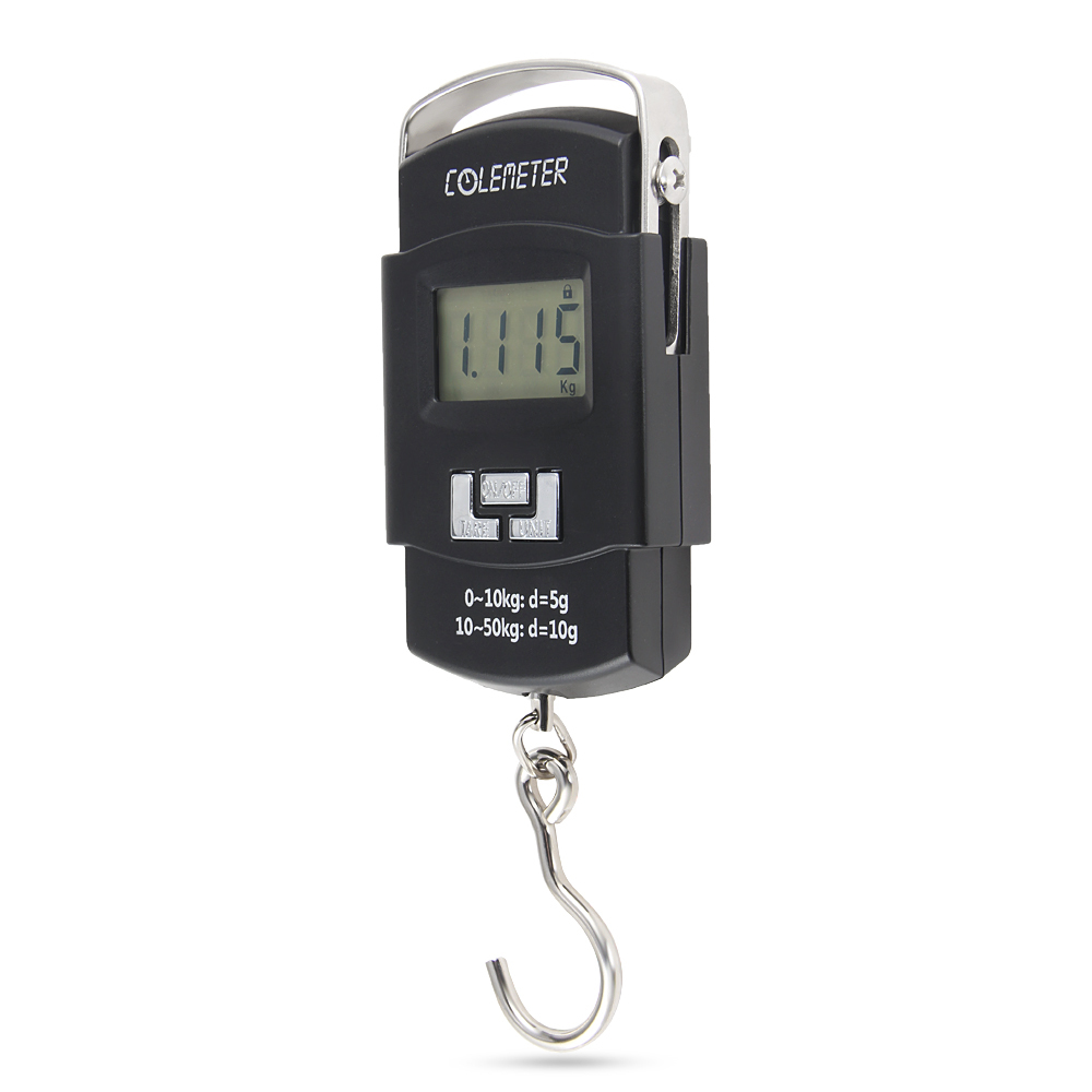 COLEMETER 50kg 0.02lb Digital LCD Hanging Luggage Weight Wei