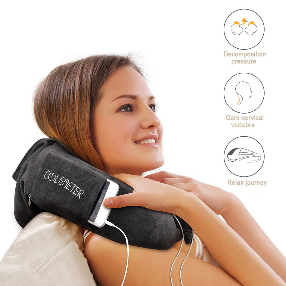 Travel Neck Pillow , COLEMETER Memory Foam Soft Neck Support