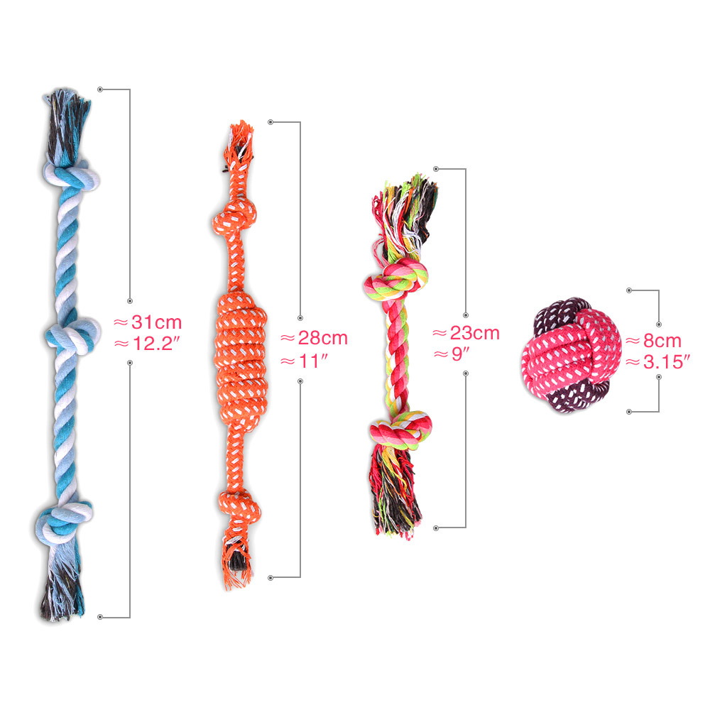 Dog Chew Toys, Pet Toys Dog Puppy Dog-Rope Ball Cadeau Anima
