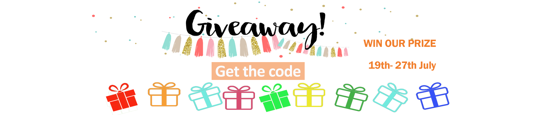 July Giveaway Bonus Entry Code