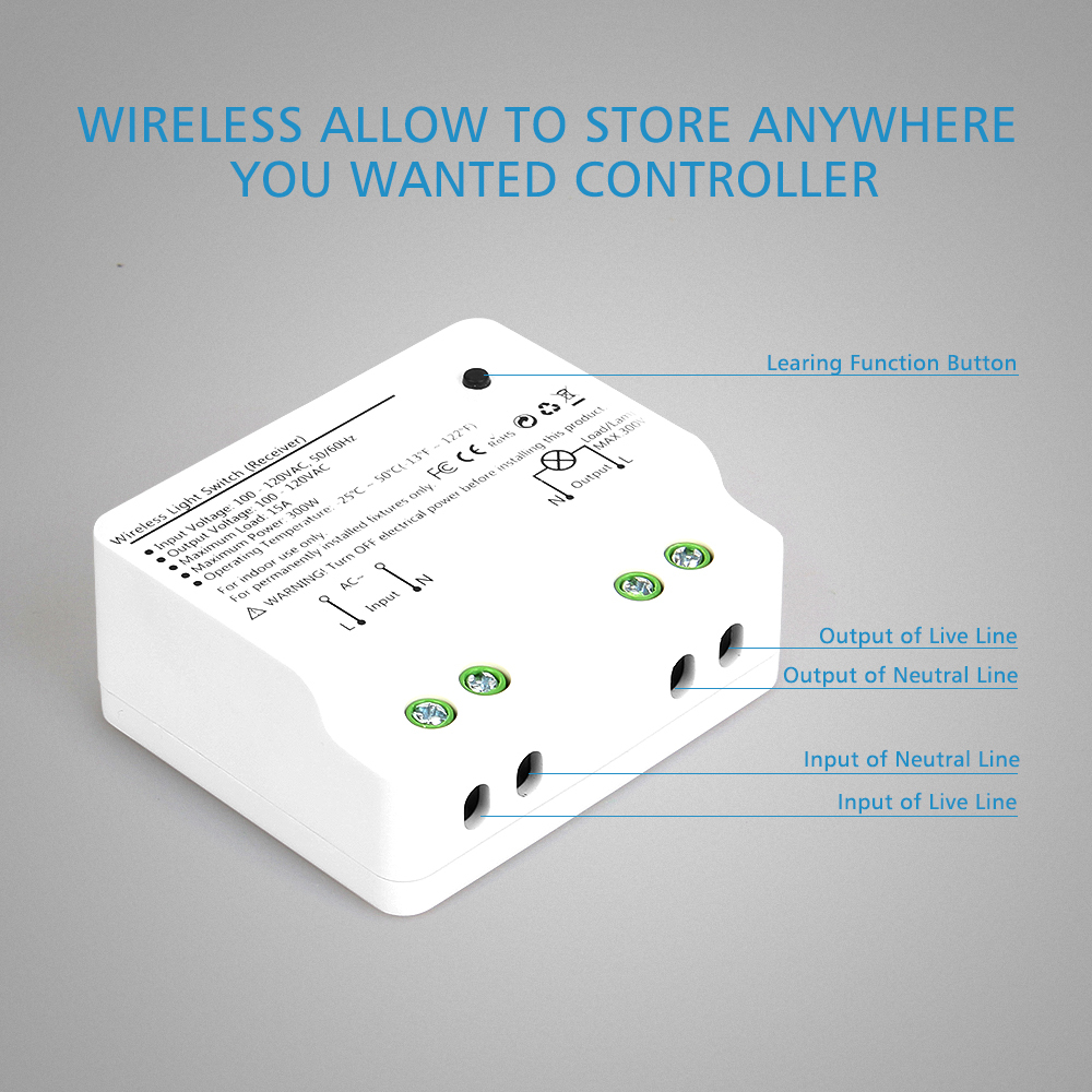 COLEMETER Circular Magnetic Base Wireless Switch
