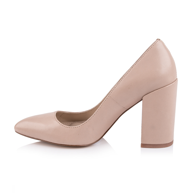 MCCKLE Female Slip On Party Pointed Toe Chunky Heel Patent
