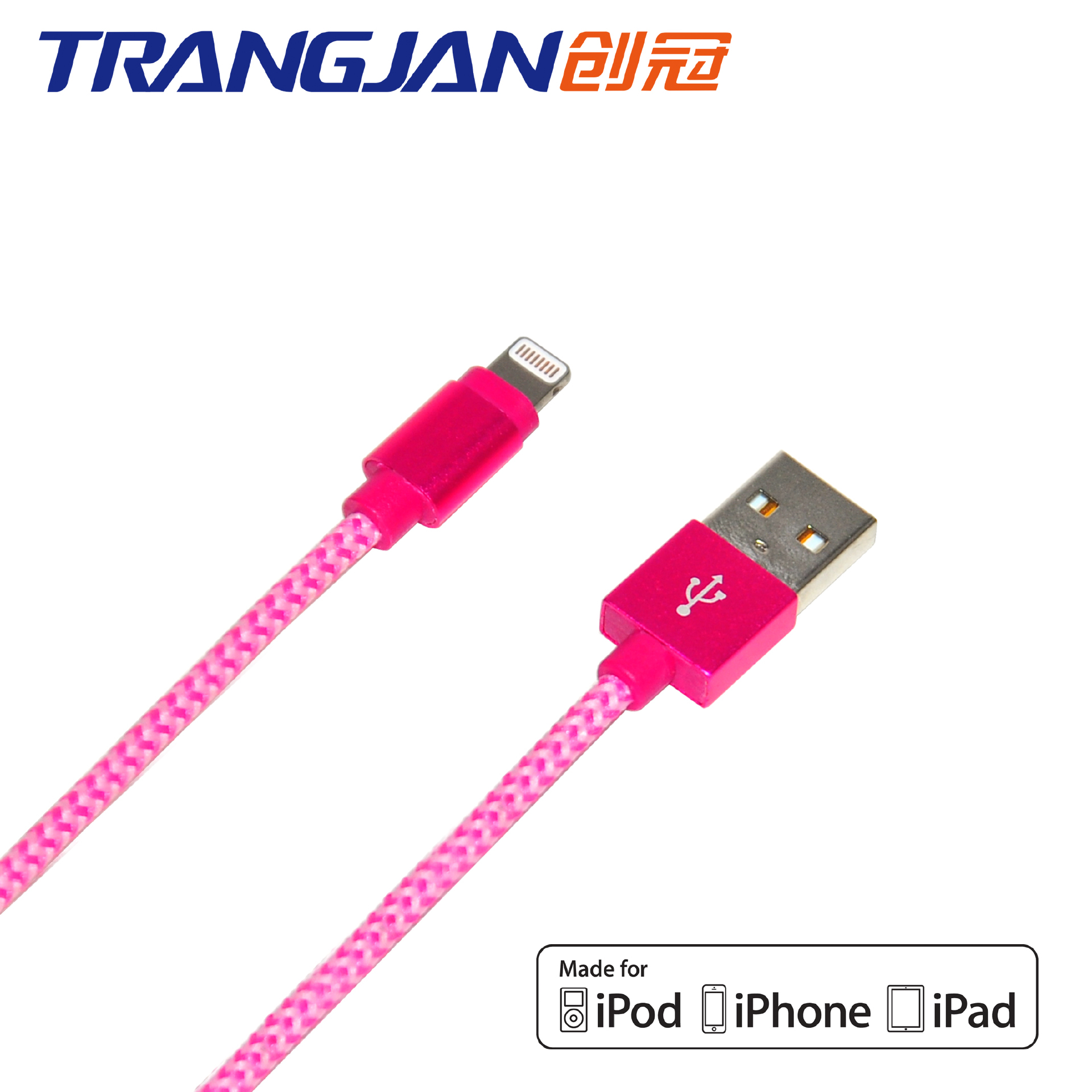 MFI Color Braided USB Data Cable