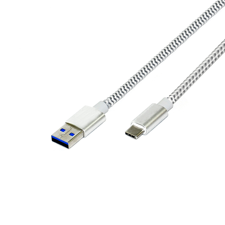 1 meter USB 3.0 A to TypeC braided nylon cable
