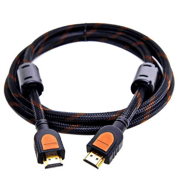 Nylon braided 24k Gold plated HDMI cable 3D support